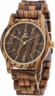 Men's Watch,UWOOD Handmade Men Women Unisex 40mm Natural Dress Wood Watch In Gift Box