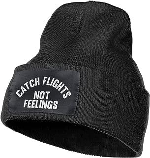 Catch Flights Not Feelings Beanie Hat Unisex Stretchy Headwear Slouchy Cap