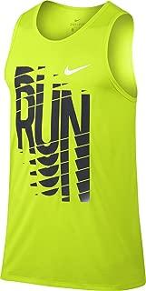New Nike Men/'s BB Long PIVOT Basketball Tank Top Light Green//Black 665997 405