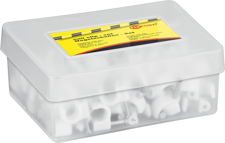 Goobay KBCR 6 (100) abrazadera para cable Blanco 100 pieza(s) - Abrazadera para cables (Blanco, 100 pieza(s))