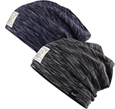 2 Pack Cotton Beanie Cap Soft Warm Headwear for Men and Women One Size.Momoon