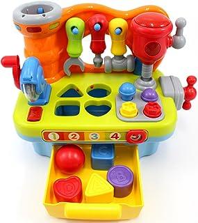 CifToys - Juguete de entrenamiento musical para niños, con efectos de sonido y luces, para trabajos de ingeniería