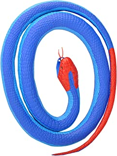 Wild Republic Blue Coral, Rubber Snake Toy, Gifts for Kids, Educational Toys, 26 inches