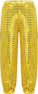 Children Girls Boys Glitter Sequins Hip Hop Jazz Costumes Street Dance Pants Group/Solo Competition Trousers