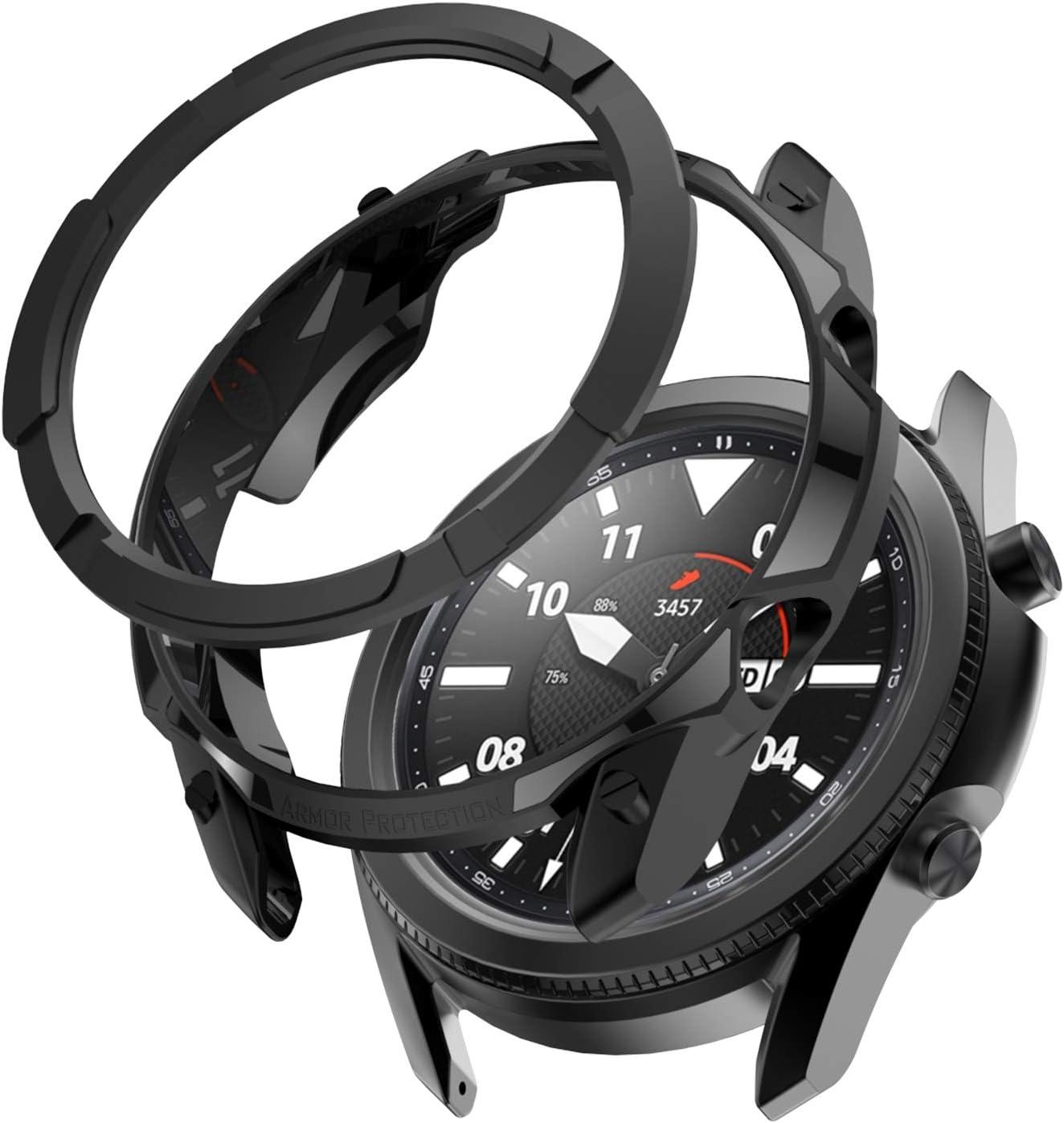1+1 Pack Samsung Galaxy Watch Arlington Mall 3 Styling 45mm Cover online shop Ring Bezel