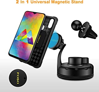 Foso (TM) Magnetic Air Vent Car Mount with Universal car Windshield & Dashboard Mobile car Holder