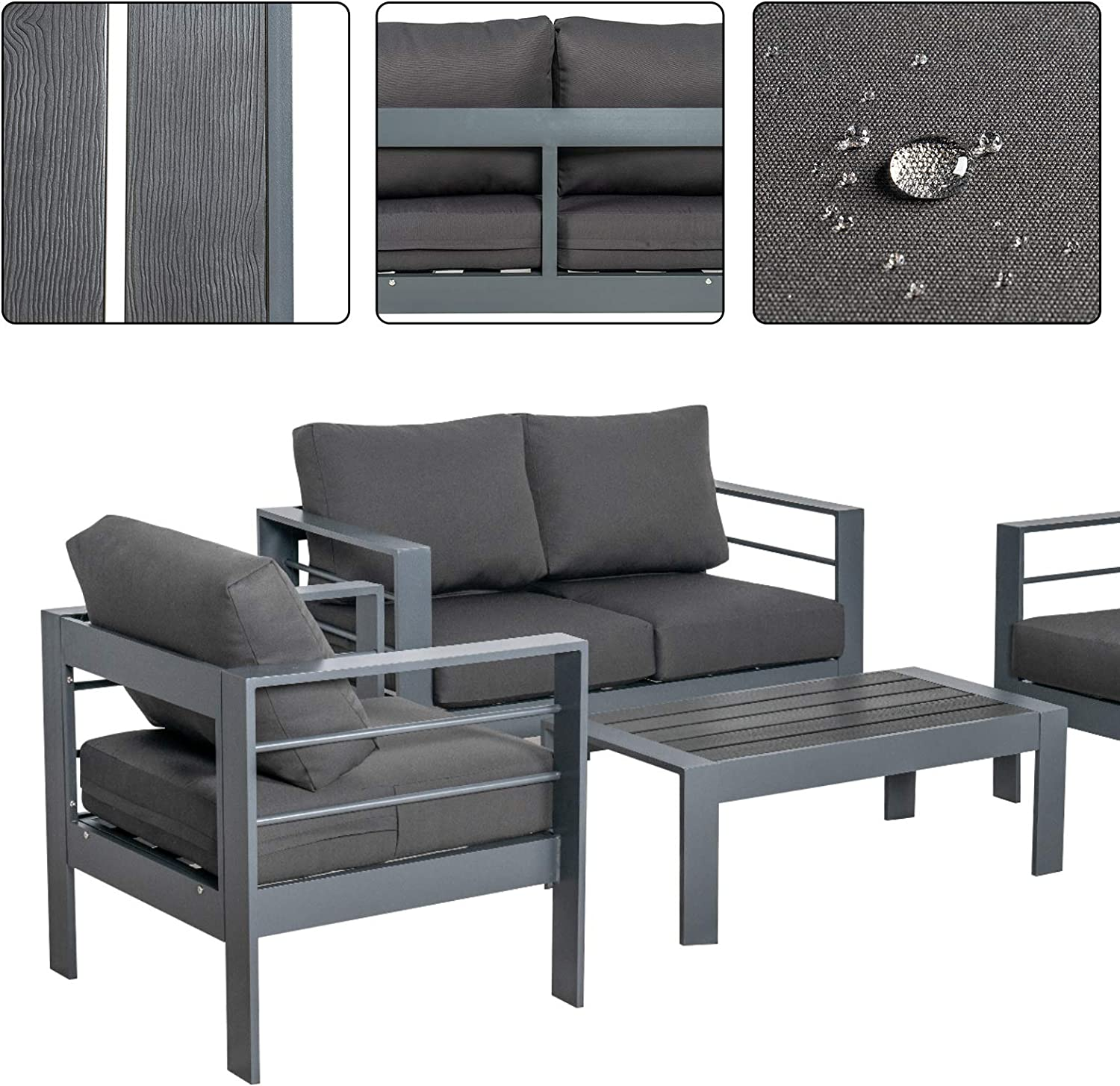 Buy Scurrty Outdoor Patio Furniture Sets Clearance Aluminum Patio ...