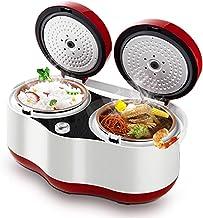 Rice Cooker (1,5 l / 300 W) dubbele top multifunctionele rijstkoker, automatische hitteconservering, voor 1-3 personen (kl...