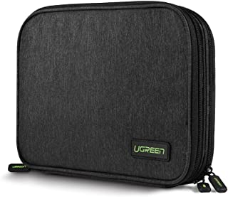 UGREEN Electronics Organizer Travel Cable Organizer Gadgets Bag Accessories for USB Cable Cord, USB Flash Drive, SD Card, Hard Drive, Power Bank, iPad Mini Tablet
