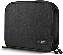 UGREEN Electronic Organizer, Double Layer Travel Gadget Bag USB Cable, SD Card, Hard Drive, Power Bank, Digital Camera, iPad Mini/Nintendo Swith Console/E-Book Tablet (up to 7.9'')