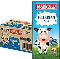 MARIGOLD Full Cream UHT Milk Plain, 12 x 1l