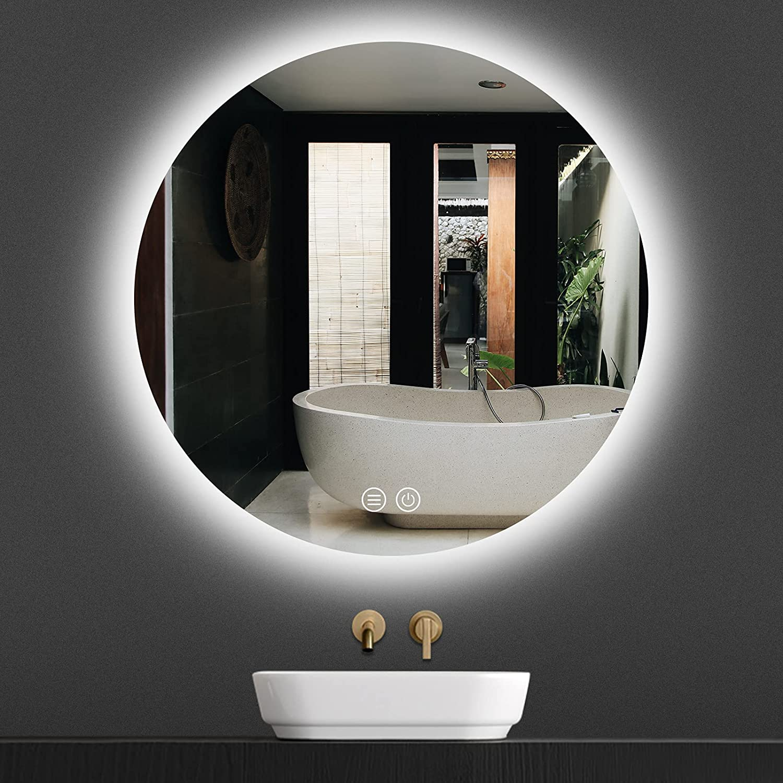 "Godchar LED Bathroom Mirror Backlit Round Vanity 20"" Max 63% OFF Ranking TOP11 M"