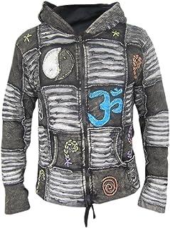 Little Kathmandu Men`s Gothic Ribs Cotton Pixie Hood Jacket