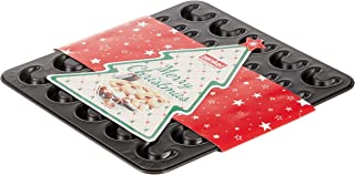 Zenker 30er-Vanillekipferl Backblech klein Sparkling Christmas, Ofenform mit Teflon Antihaftbeschichtung für kinderleichtes Backen, hochwertige Form für selbstgemachte Kipferl Farbe: Schwarz
