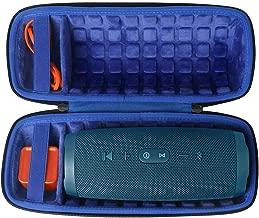 co2crea Hard Travel Case for JBL Charge 4 Waterproof Bluetooth Speaker (Outside Black and Inside Royal Blue)
