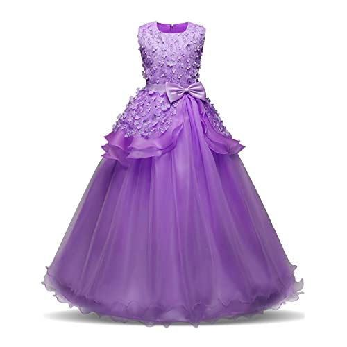 39435a79b59 NNJXD Girl Sleeveless Embroidery Princess Pageant Dresses Kids Prom Ball  Gown