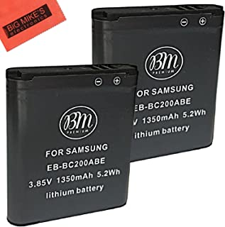 BM Premium 2 Pack of EB-BC200ABE Batteries (1350mAh) for Samsung Gear 360 VR, SM-C200 Action Camera