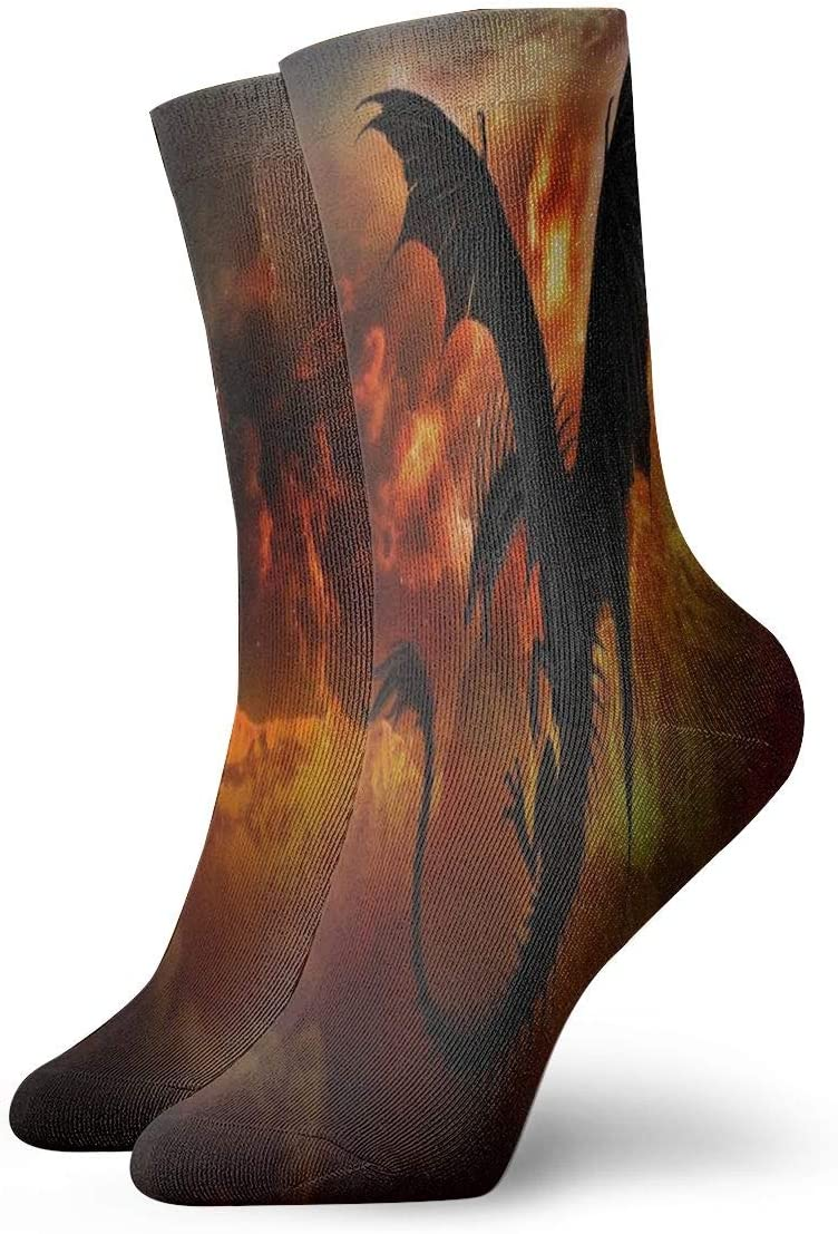 Unisex Casual Dragon in The Athletic Moisture Don't miss the campaign Socks Wicking Sale Sky