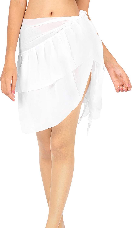 LA LEELA Women's Beach Cover Up Bikini Sarong Swimsuit Wrap Skirts Full Long B
