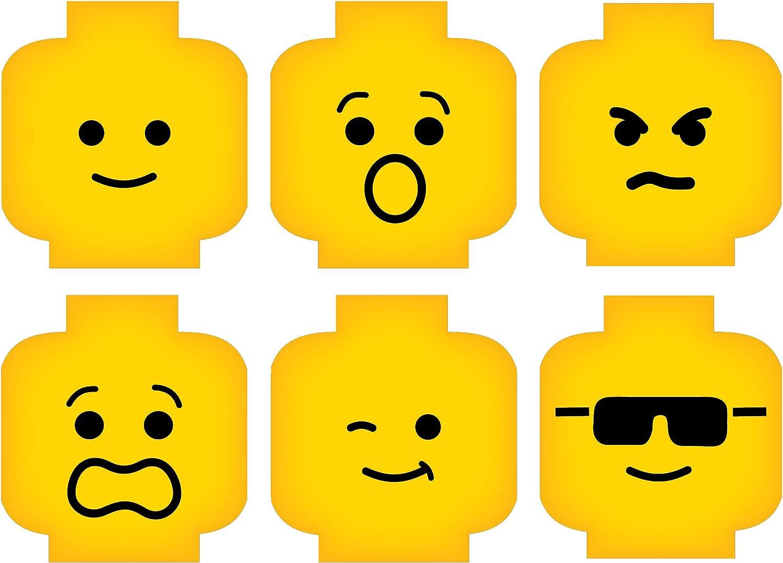 Minifig Heads Emotion Face Wall Decal Vinyl Decor free Digital Print Year-end annual account