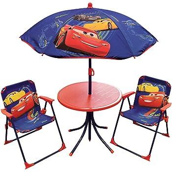 Fun House Set da giardino per bambini 2 sedie pieghevoli e 1 ombrellone composto da 1 tavolo