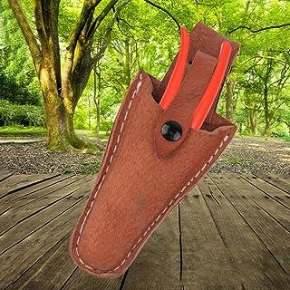 cuckoo-X - Funda Protectora de Piel para Tijeras de podar de jardinería, Color marrón