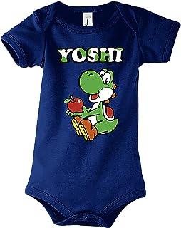 TRVPPY Baby Jungen & Mädchen Kurzarm Body Strampler Modell Yoshi