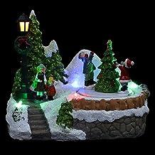 ABOOFAN 1Pc Música de Natal Decoração Luminosa Pequena Casa Adornar Colorido Resina Ornamento