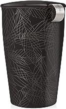 Tea Forte Kati Cup Taza de infusión de té de cerámica con cesta de infusor y tapa para remojar, Noir