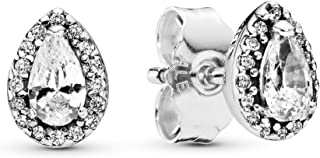 Pandora Womens Zirconia Earring - 296252CZ, Color Silver