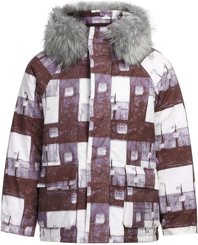 NotingBuss Mens Winter Military Warm Jacket Fleece Coat with Detachable Fur Hood Outwear