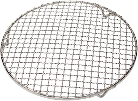 11 inches Fivebop Multi-Purpose Stainless Steel Cross Wire Round Steaming Cooling Barbecue Racks//Carbon Baking Net//Grills//Pan Grate with 3 Legs