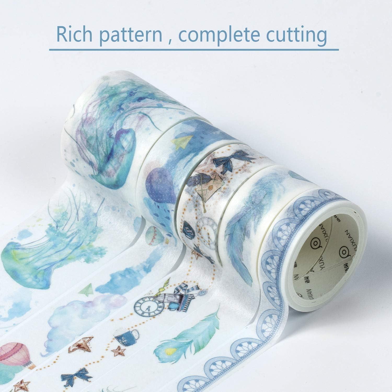 pour Bricolage et Emballage Cadeau Travaux Manuels Comius Sharp 20 Rouleaux Multi-pattern Washi Tape D/écoratifs Washi Tape Scrapbooking Vert
