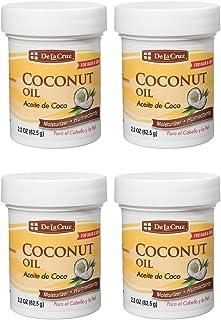 De La Cruz Coconut Oil, Expeller-Pressed, No Parabens or Artificial Colors, Packed in USA 2.2 OZ. (4 Jars)