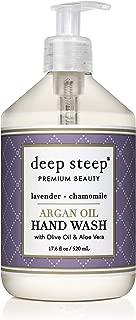 Deep Steep Argan Oil Liquid Hand Wash, Lavender Chamomile, 17.6 Fluid Ounce