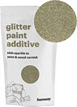 Hemway (Silver & Gold) Glitter Paint Additive Crystals 100g / 3.5oz for Acrylic Latex Emulsion Paint - Interior Exterior Wall, Ceiling, Wood, Varnish, Dead Flat, Matte, Gloss, Satin, Silk