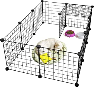 Rness Pet Playpen, Portable Pet Playpen Metal for Small Animals, pet playpen panels,Guinea Pigs, Rabbits,Dog Cage,Cat Cag...