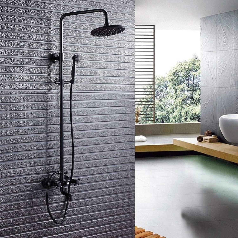 Retro doppelventil 3-Wege Hahn dusche System, einstellbare Stange Dusche, Europischen Badezimmer Wand-set Dusche montiert