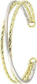 2begold - Bracciale Donna a tre incroci in Oro