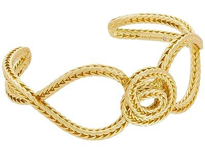 SOLE / SOCIETY Cuff (12K Soft Polish Gold/Ivory Pearl) Bracelet