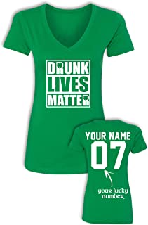 Custom V-Neck St Patrick's Day Shirts - Add Name & Number - Slimfit & Lightweight