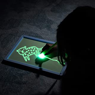 Zen Life Draw with Light Sketch Board, Luminescent Glow in The Dark Drawing Painting for Kids