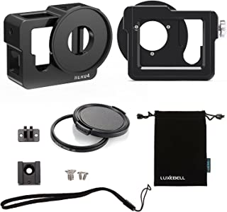 Luxebell Aluminium Alloy Skeleton Thick Solid Protective Case Shell with 52mm Uv Filter for Gopro Hero 4 Black, Silver Cam...