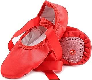 Ballet Dance Shoes for Goddler Girls Kids Women Pink Red Yoga Slipper Satin Flat Physical Shoe
