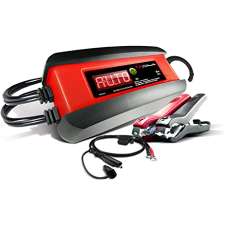 AUTOMATIC BATTERY CHARGER MAINTAINER 6V//12V Cars Boat Powered 1.5A SCHUMACHER