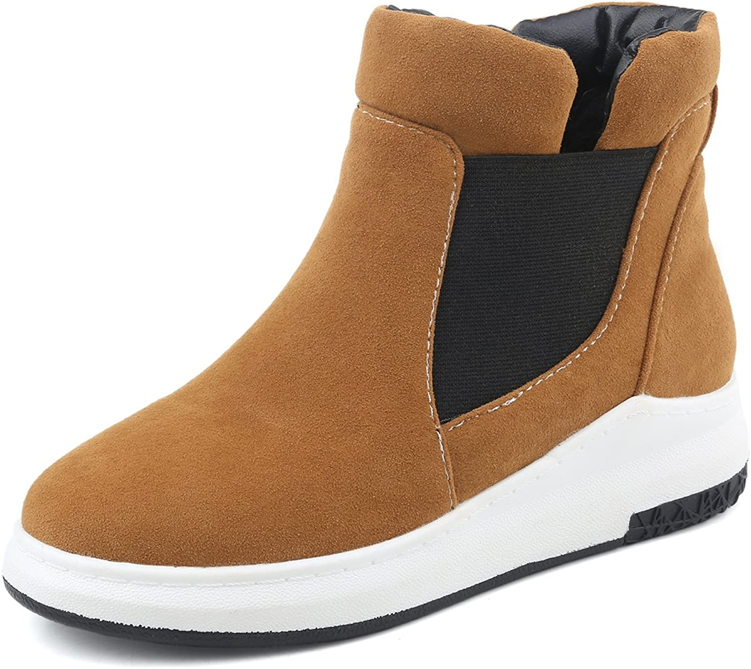 Ladola Womens Closed-Toe Round-Toe Soft-Ground Comfort Casual Synthetic Boots