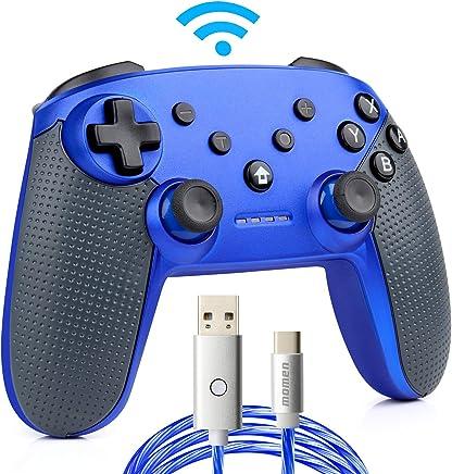 Switch コントローラー ワイヤレス 無線(Bluetooth)ジャイロセンサー・モーター振動・連射機能搭載nintendo switch games対応 センサー距離8m 方向キー付き 滑り止めのグリップ【2mケーブル付き】