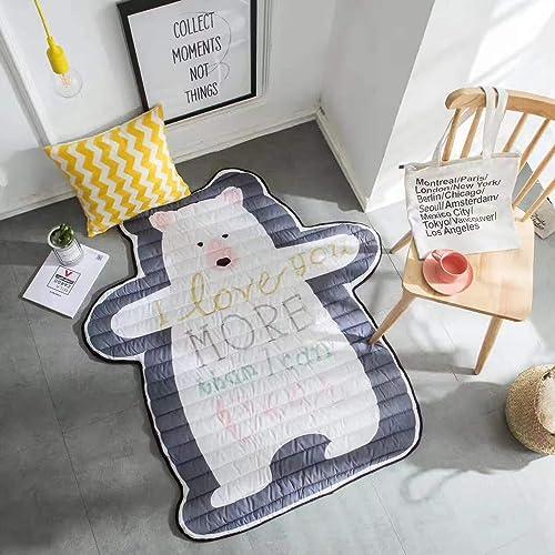 AQUYY Baby Krabbeldecke BabypÃlege Pad Kinder Falten Game Pad, Ungiftig Rutschfeste Gepolsterte Bodenmatte (140  130cm)
