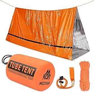 Mezonn PE Emergency Sleeping Bag Survival Bivy Sack- Use as Emergency Space Blanket, Lightweight Sleeping Bag, Survival Ge...
