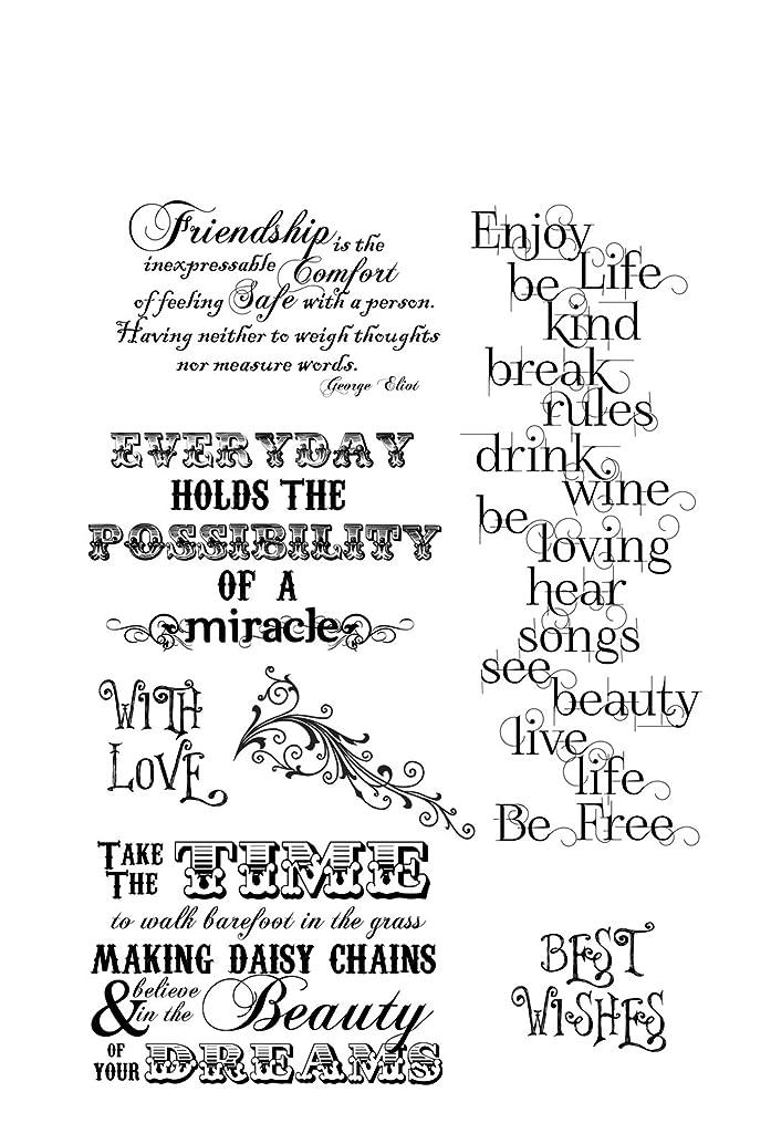 IndigoBlu EJ1MTD Cling Mounted Stamp, 9.25 by 6.25-Inch, Enjoy Life